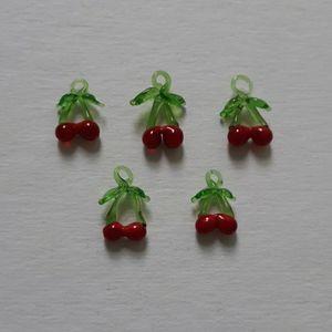 Glass Cherry Charms